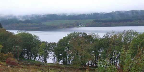 Large hunting lodge over looking loch