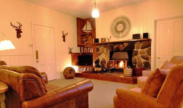 woodburning stove in sittingroom