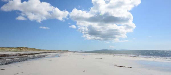 Uist sandy beach