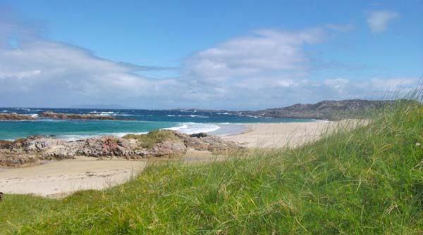 Beautiful Scottish sandy beach