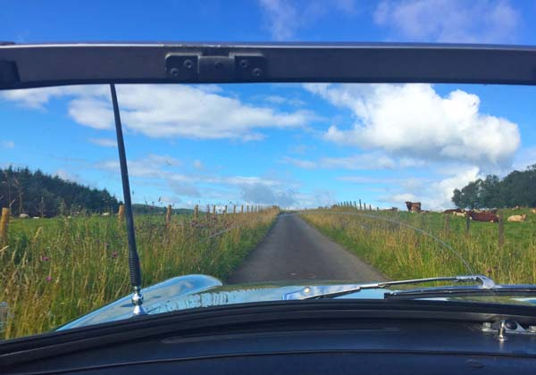 Classic car touring in Scotland