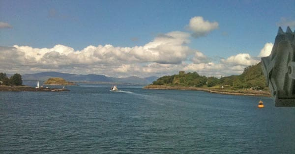 Ferry Leaving Oban for Lismore