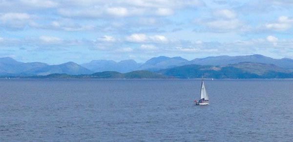 looking from Oban to Isle of Kerrera