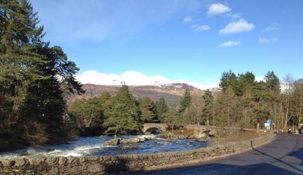 Killin Bridge at the end of Loch Tay