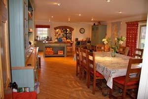 large country kitchen diningroom with Aga