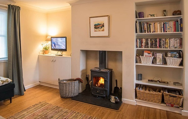holiday cottage with wood burning stove