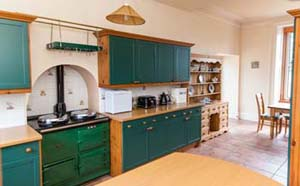 selfcatering kitchen with Aga